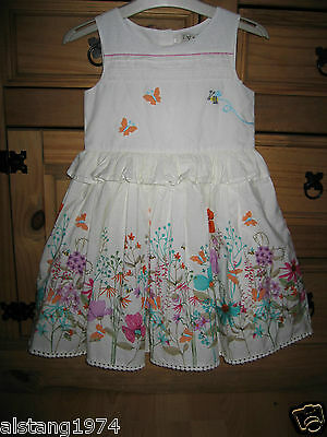 BNWT NEXT Size 4-5 Years Ecru Flower Prom Dress *Rare* Sold out RRP£25