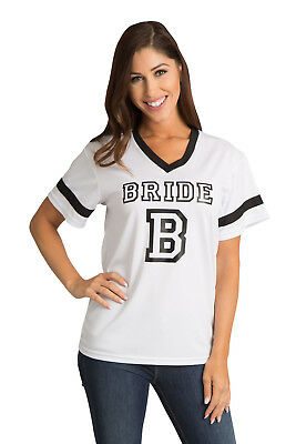 Black & White Bride Jersey - Size Small & Med Wedding Apparel Clearance Savings!
