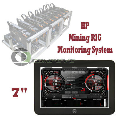 HP 7 inch USB Powered Mobile Display Mining RIG Monitoring System Plug and Play