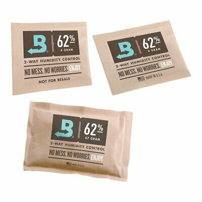 Various Sizes Boveda Humidipak 62% Bulk Micro 4 Gram Medium 8 Gram Large 67 Gram