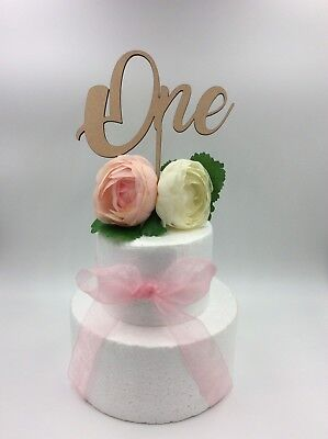1Pc Cake Topper One Number Baby Boy Girl Wooden Birthday Party Supplies