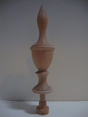 Wood Finial Unfinished For Clock, Bed Or Furniture  Finial  #98