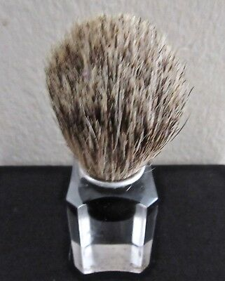 Sharp Vintage 40's Art Deco Lucite Shaving Brush With Pure Bristles