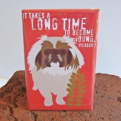 Pekingese Dog Heavy Duty Art Magnet -Free Shipping ASAP