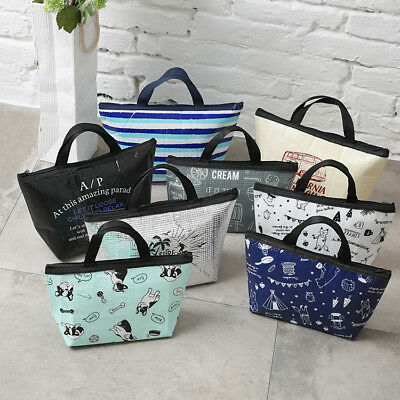 Small Handy Light Insulated Tote Thermal Cooler Lunch Bag Multiple Designs