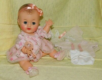 """SALE PRICED! Early 12"""" Vinyl Crying Betsy Wetsy Doll Rare Holes In Ears Mold EUC"""