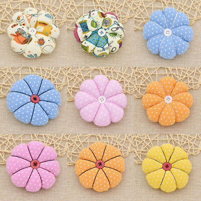 Creative Pumpkin Pin Cushion DIY Fabric Sew Needles Pin HandCraft Elastic Belt
