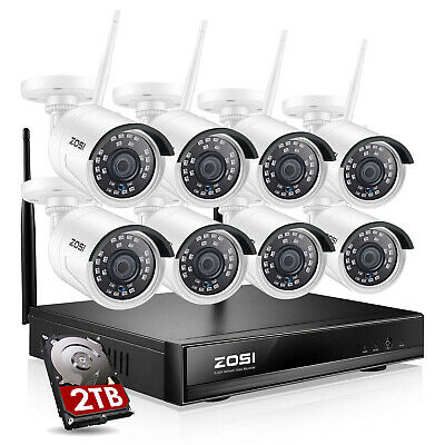 ZOSI 4CH 8CH 2MP Security Camera System HD 1080P Outdoor Video Surveillance DVR