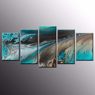 Modern Canvas Prints Wall Decor Art Abstract Oil Painting Canvas Wall Art-5pcs