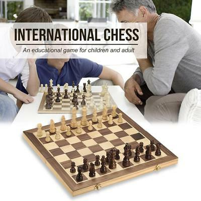 40*40cm Wooden Chess Set Pieces International Chess Set Mini Chess Toy Gift U4I0