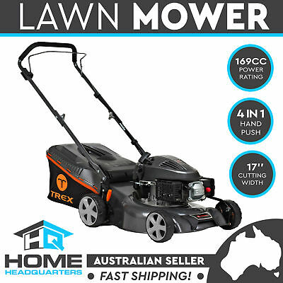"TREX Lawn Mower Self Propelled 169cc 17"" Lawnmower 4 Stroke Catch Mulch 2 in 1"