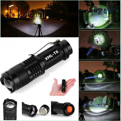 Super Bright 90000LM T6 Tactical Military LED Flashlight Torch Zoomable 18650 CJ