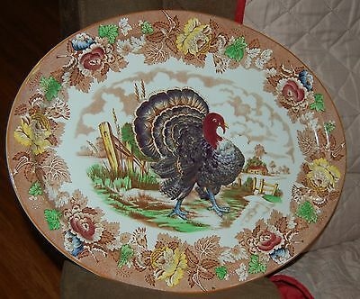 Enoch Ralph Wood's Burslem -Turkey Serving Platter - 18¾ by 15 inches