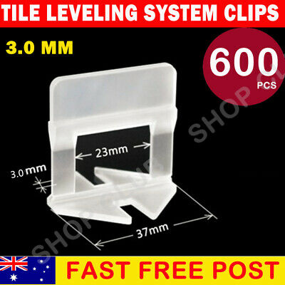 600 pcs Tile leveling System Clips Levelling Spacer Tiling Tool Wall Floor 3mm