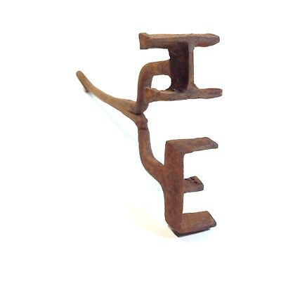 Vintage Blacksmith Made Hand Forged Branding Iron