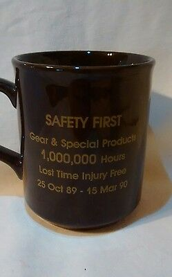 John Deere Employee's Safety Award. Coffee Cup Limited Production Item1989-1990