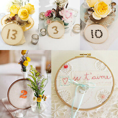 Wooden Cross Stitch Machine Embroidery Hoop Ring Circle DIY Crafts Sewing Frame