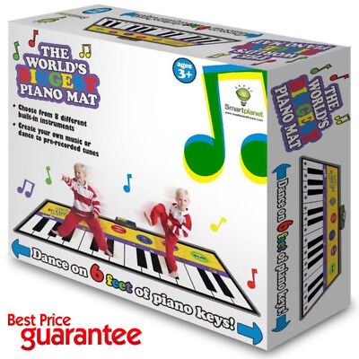 Piano Mat Kids Play Floor Musical Fun Dance Stepping Steps Toys Keyboard Gifts