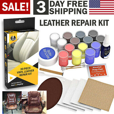 Vinyl Leather Repair Kit Compound Color Restorer Car Couches Seat Chairs Jacket