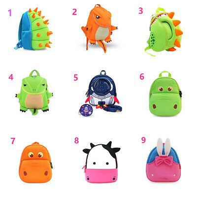 Kids 3D Dinosaure Waterproof Toddler Backpack Cute Animal Boys Girl Schoolbags