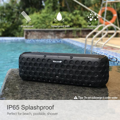 T60 Bluetooth Solar Powered Wireless Speaker Portable Bass Waterproof 2400mAh