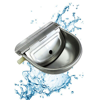 Stainless Water Trough Bowl Automatic Drinking For Dog Horse Chicken Auto Fill O