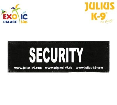 Julius-K9 2 Etichette In Velcro Patch Security Per Pettorina Cane Idc Belt Power