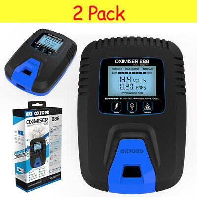 2 PACK | Oxford Oximiser 888 UK Motorbike Motorcycle Trickle Battery Charger 12V