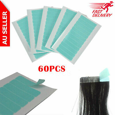 24x Strong Blue Double Sided Side Tape for Skin Weft Hair Extensions Waterproof