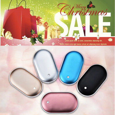 4IN1 5000mAh Rechargeable Electric Pocket Hand Warmer Mobile Power Bank Charger