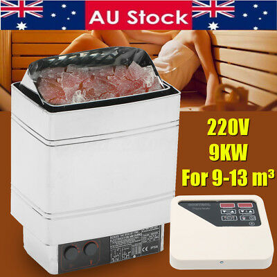 9KW Electric Sauna Heater Stove Wet Dry External Digital Control Bath Shower SPA