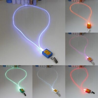 LED Light Up Safety Neck Strap Lanyard Keychain ID Card Bus Card Hanging Rope
