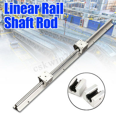 SBR12-600mm Fully Supported 12MM Linear Bearing Rails Shaft Rod+2x SBR12UU Block