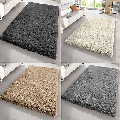 Small X Large Thick Fluffy Plain Modern 5Cm Shaggy Rug Non-Shad Floor Carpet Mat