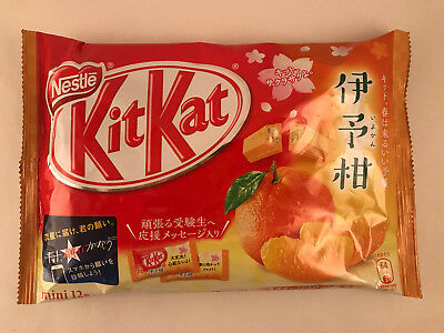 1 bag Japanese Iyokan Orange KitKat - NEW Japan Kit Kat Flav. LIMITED! Chocolate