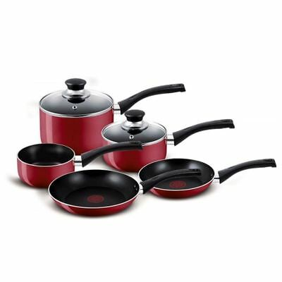 Tefal - Bistro Red Non-Stick 5pc Cookware Set