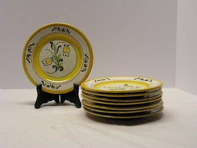 """Set Of 6 Stangl """"tulip""""  6.25"""" Bread And Butter Plates In Excellent Condition"""
