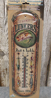 """Rivers Edge Nostalgic Indoor/outdoor 17"""" Metal Thermometer Get Hooked At Lunkers"""