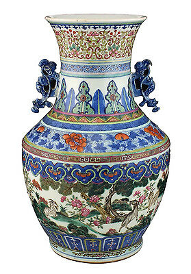 Large Superb 19thC Antique Chinese Famille Rose Porcelain Vase