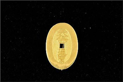 22 Karat Gold Chinese Coin Type Brooch / Pin