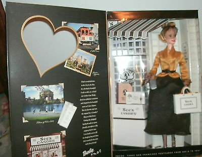 2001 Sees Candies Barbie I Left My Heart In San Fransisco Special Ed New Nrfb