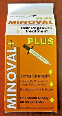Minoval Plus Hair Regrowth Treatment Extra Strength for Men 2oz - FREE SHIPPING!