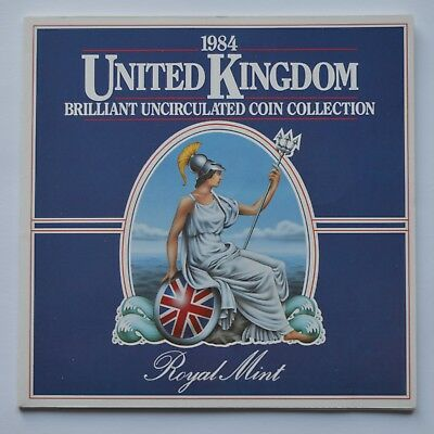 1984 United Kingdom Brilliant Uncirculated 8 Coin Set Collection