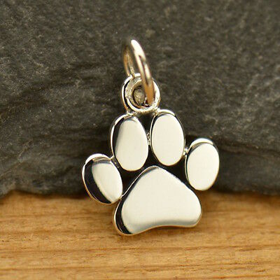 925 Sterling Silver Dog Cat Paw Charm Necklace Puppy Animal Vet Groomer 1628