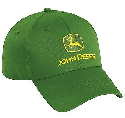 874c003a NEW JOHN DEERE Green Twill Cap JD Hat LP17596 - $9.99 | PicClick