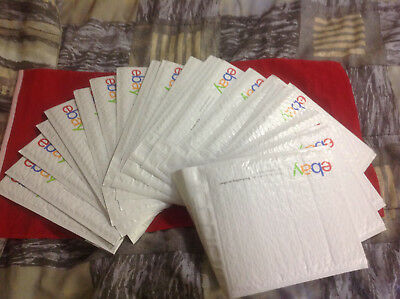"20 eBay Branded Airjacket Bubble Envelopes Shipping Mailers 9.5"" x 13.25"" Lot"