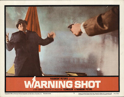 Warning Shot 1966 11x14 Orig Lobby Card FFF-65580 Fine, Very Good Keenan Wynn