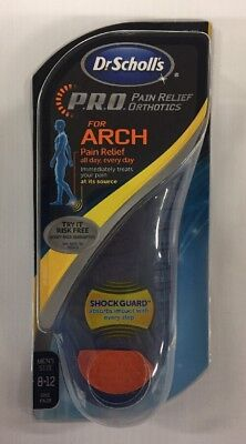 Dr. Scholl's PRO Pain Relief Orthotics Arch Support, Men's Size 8-12