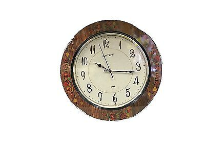 Dark Brown Wooden Quartz/Battery Round Wall Clock White Dial(GD905-1)