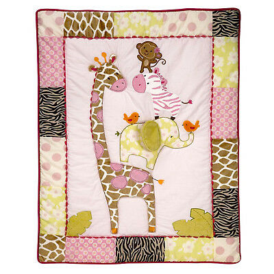 Carter's Jungle Jill Collection Baby ( Crib Comforter Only ) Pink